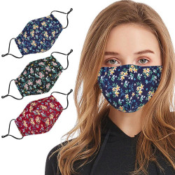Masques fleuri Pack x3